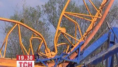 В Симферополе упал строительный кран