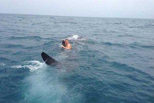 Підліток осідлав 9-метрову акулу і верхи прокотився на ній (відео)