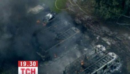 В США згоріла парковка з елітними будинками на колесах