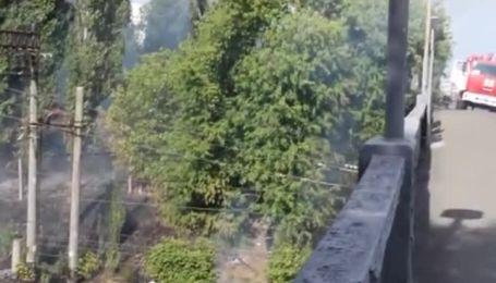 Из-за жары в Киеве загорелась трава