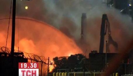 В США горит один из крупнейших в мире заводов по утилизации мусора