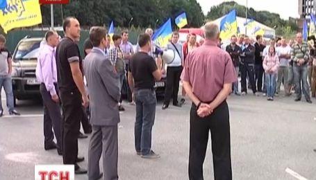 Во Львове прошел автопробег за отмену утилизационного сбора