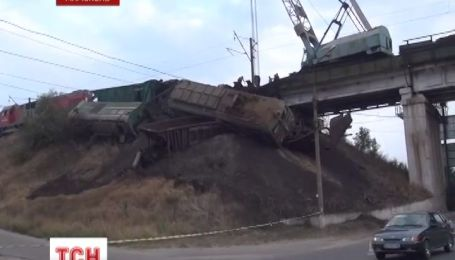 В Мариуполе столкнулись два грузовых поезда