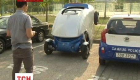 Корейцы разработали автомобиль, складывающийся при парковке