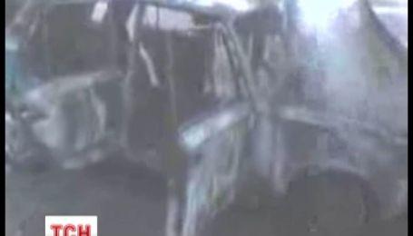 На Донетчине гаишники спасли семью из горящего авто