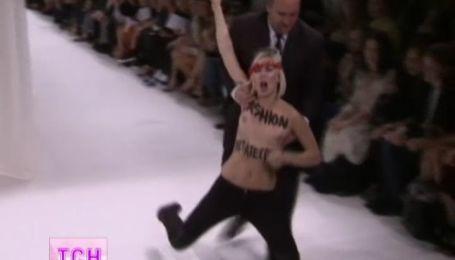 FEMEN вийшло на подіум паризького тижня моди