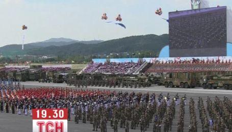 Южная Корея устроила крупнейший за 10 лет военный парад