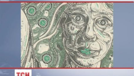 Американский художник рвет доллары и делает из них картины