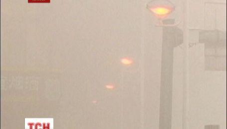 Китай затянуло смогом
