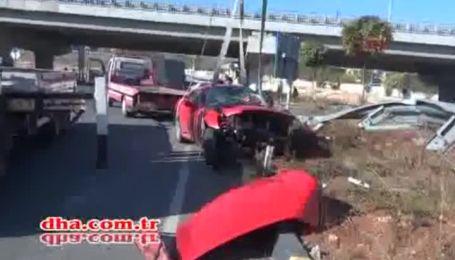 Артем Мілевський потрапив в аварію на своїй Ferrari