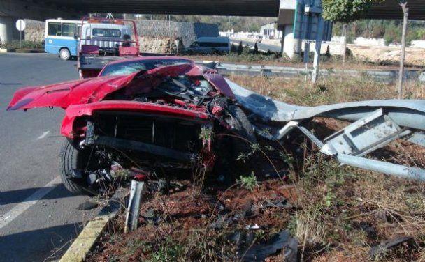 П'яний Мілевський розбив свою Ferrari в Туреччині