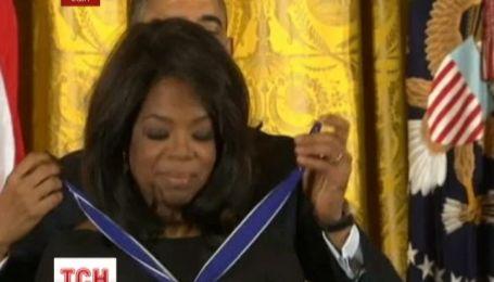 Опра Вінфрі отримала президентську медаль Свободи