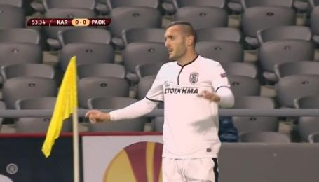 Шахтар Караганда - ПАОК - 0:2. Відео матчу