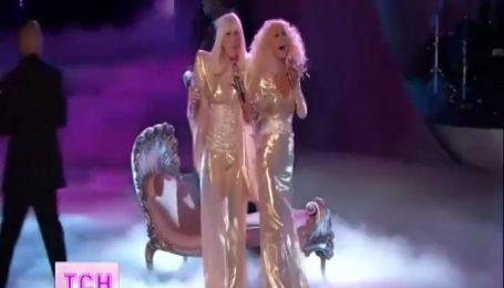 Леді Ґаґа та Кристіна Агілера потішили глядачів співочого шоу неочікуваним дуетом