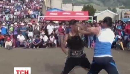 В Перу провожают старый год драками
