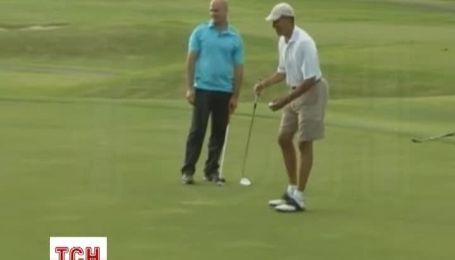 Обама новорічні канікули розпочав з гри у гольф
