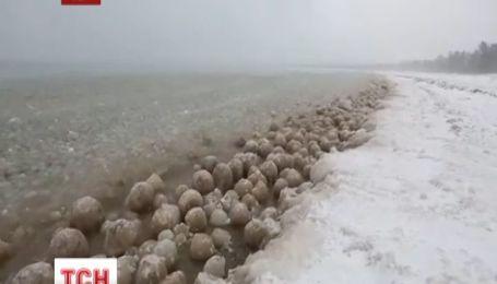 В США аномально холодная погода привела к аномальному явлению
