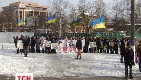 Студенти підтримали силовиків та їх родини