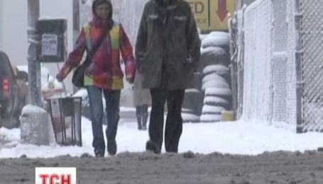 США заметают мощные снегопады