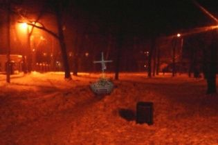 В Харькове неизвестные уничтожили памятник воинам УПА