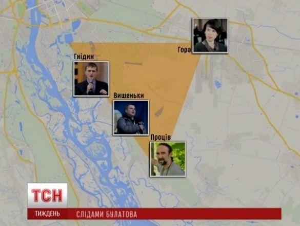 Бориспільський трикутник, катування активістів, булатов