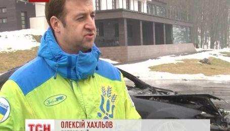 Невідомий вщент спалив авто колишнього зятя Ющенка
