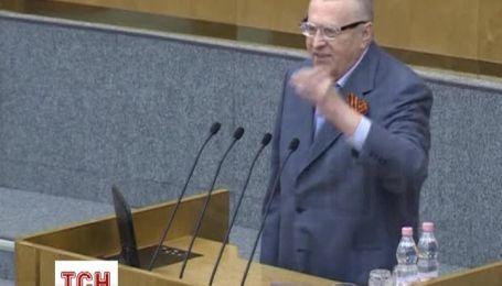 """Жириновский заявляет, что Россия не остановится на аннексии Крыма и должна """"двигаться дальше"""""""