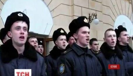Курсанты Академии Нахимова гимном Украины перебили российское празднование