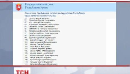 """Крымские депутаты обнародовали """"черный список"""""""