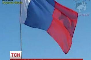 """На Луганщині проросійські активісти виступили під прапором """"Франції"""""""
