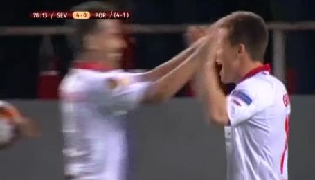 Севилья - Порту - 4:0. Видео гола Гамейро