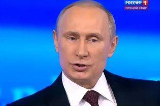 Путин убеждает, что море в Крыму очень грязное и там купаются пьяные шахтеры