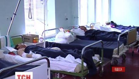 В одеських лікарнях майже 100 осіб, постраждалих у сутичках