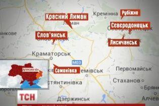 Мапа АТО на буремному Сході: силовики контролюють більше 20 районів