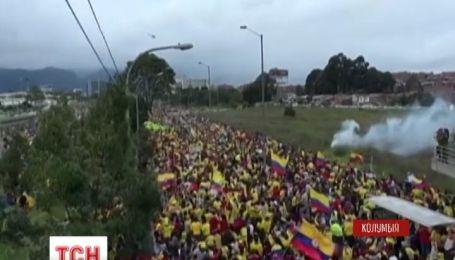 Фанаты устроили грандиозную встречу колумбийской сборной