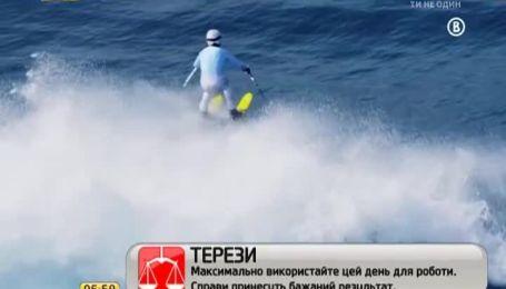 Екстремал підкорив велетенські хвилі на лижах