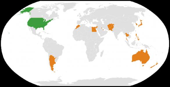 країни члени Major Non-NATO Ally