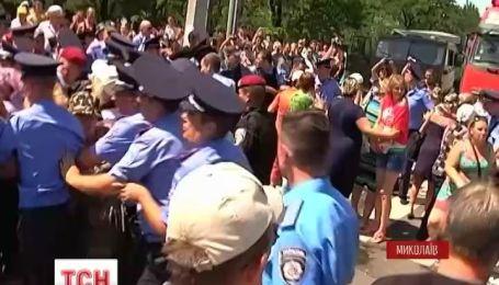 В Николаеве уже второй день продолжаются протесты