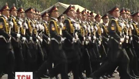 Генеральная репетиция военного парада ко Дню Независимости Украины