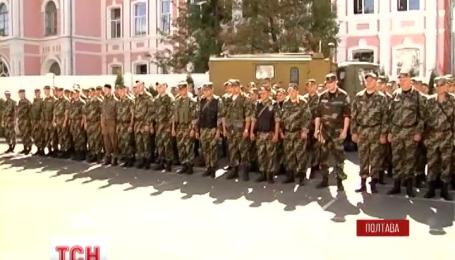 На Восток выехали правоохранители сводного отряда Полтавщины