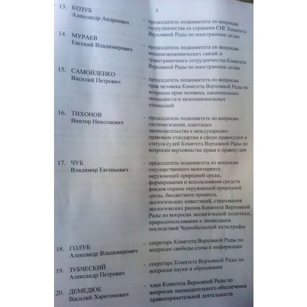 """Стал известен список депутатов ВР, которые посетили Госдуму в интересах """"русского мира"""""""