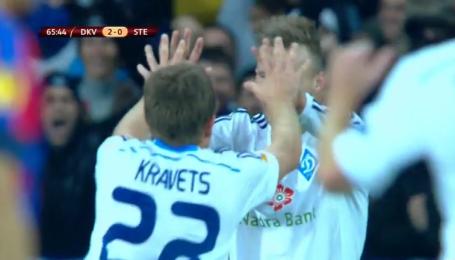Динамо Киев - Стяуа - 2:0. Видео гола Кравца
