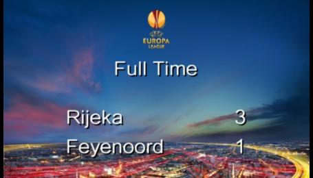 Риека - Фейеноорд - 3:1. Видео матча