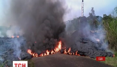 На Гавайях лава с вулкана Килауэа приблизилась к жилым домам