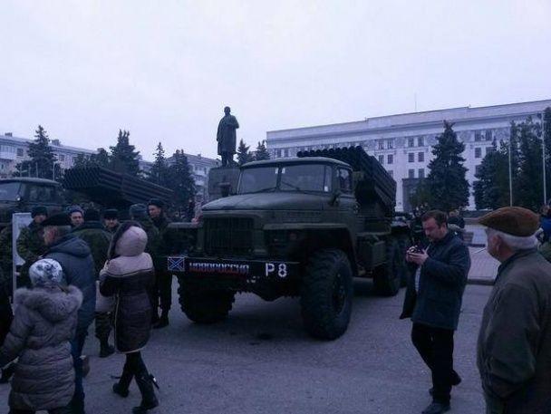 В Мережі з'явилися фото російських військ у Луганську