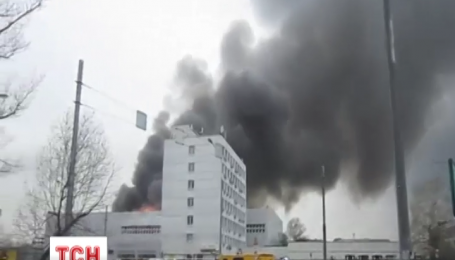 Москва страдает от пожара - горят завод, институт и детский сад
