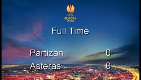 Партизан - Астерас - 0:0. Видео матча