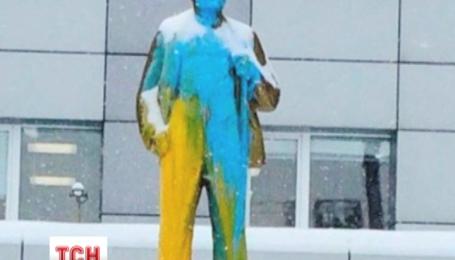 В Новосибирске задержали людей, которые на прошлой неделе разрисовали памятник Ленину