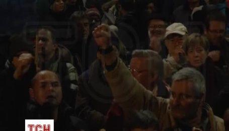 Полиция применила перечный газ против митингующих в Будапеште
