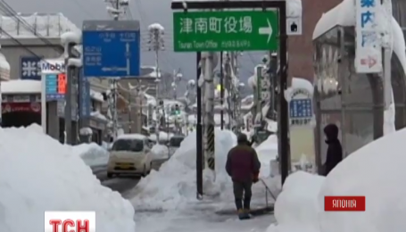 В Японии зимняя непогода унесла три человеческих жизни
